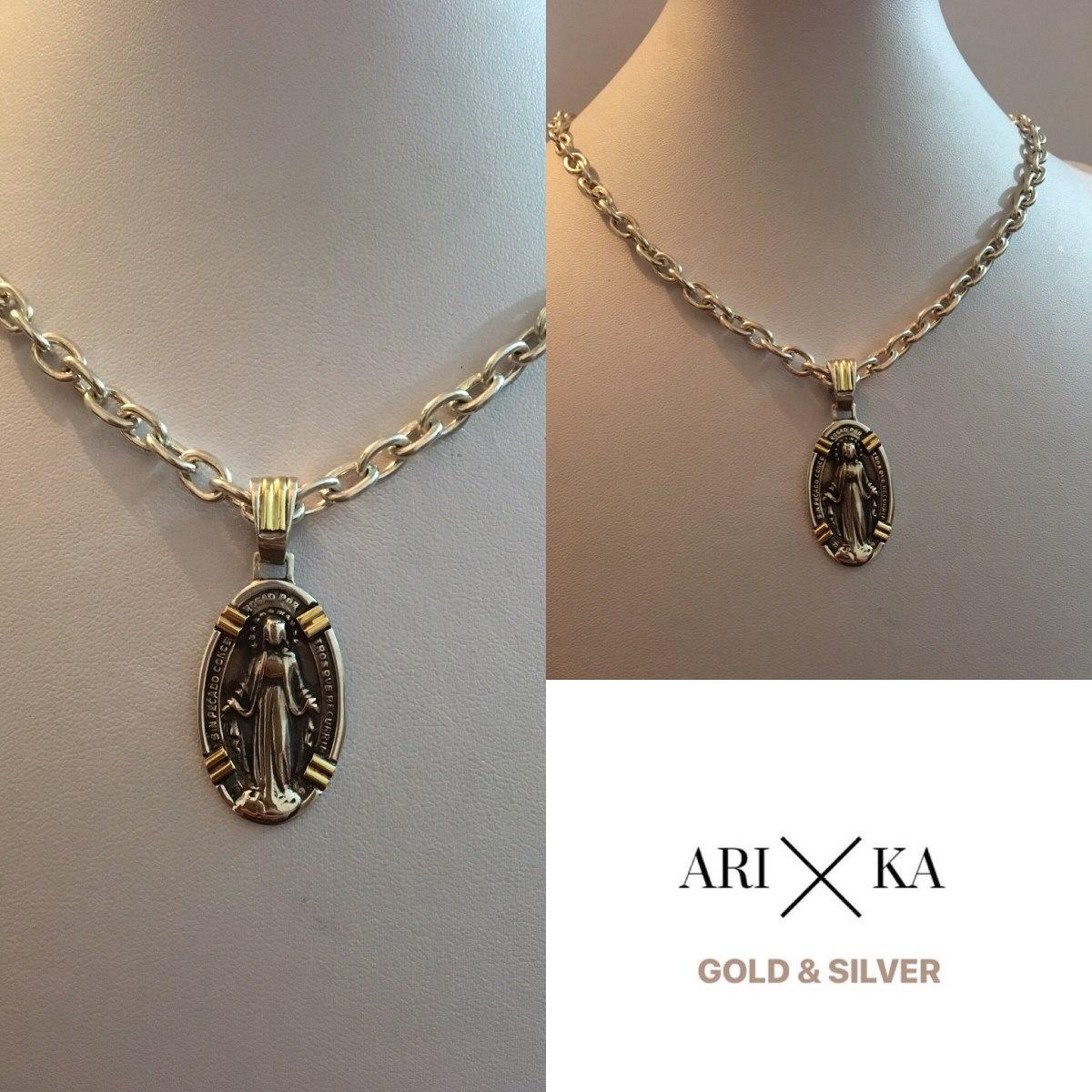 a7e369e26f74 cadena y medalla milagrosa plata y oro. Cargando zoom.