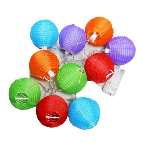 cadenas de globos chinos con led por 3 paquetes - bc