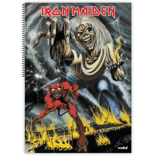 caderno 10 materias gd 2017 iron maiden 200 f  c/02 credeal