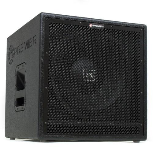 caixa de som profissional premier audio sw15 grave passiva