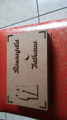 caixas convite de casamento lembrança 20 caixas desmontada