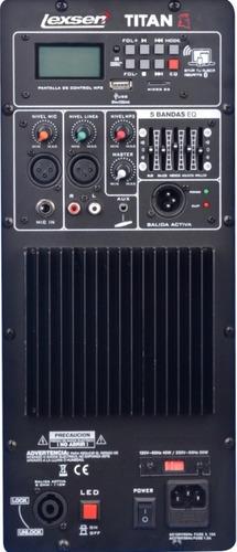 caja acustica lexsen titan 15 soporte + mic bluetooth/sd/usb