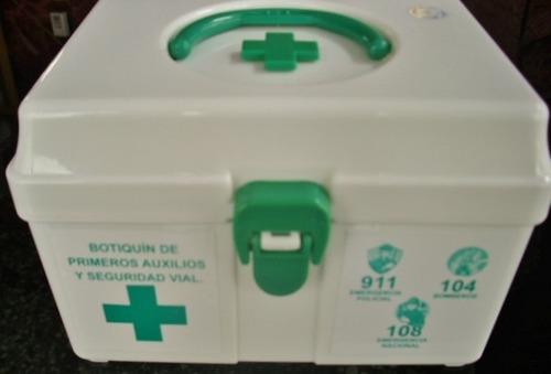 caja botiquín valija práctico primeros auxilios y curaciones