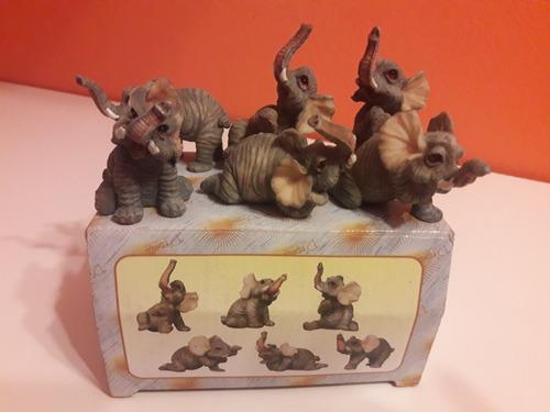 caja de 6 elefantes muy lindos !!!
