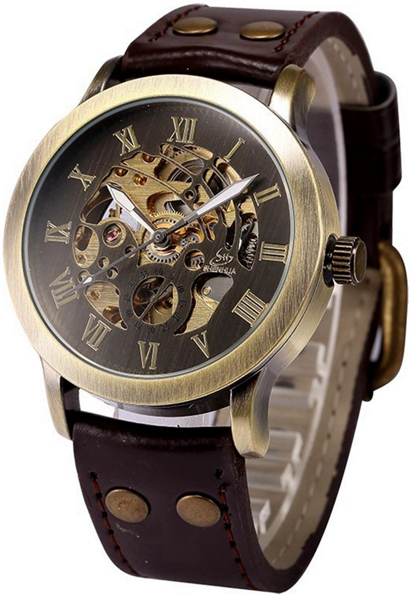 bd1de1a6d35c Caja De Esqueleto Steampunk Para Hombre Reloj De Pulsera. - U S 68 ...