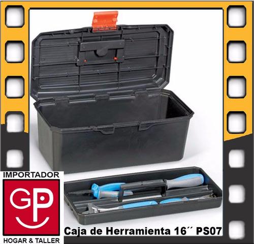caja de herramienta 16´´ maestro basic negro ps07