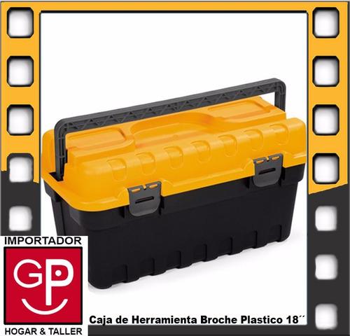 caja de herramienta 18´´ broche plástico strongo sp02