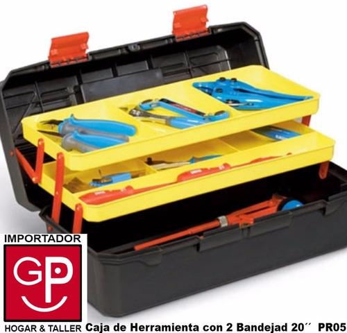 caja de herramienta 20´´ con 2 bandejas cantilever pr05