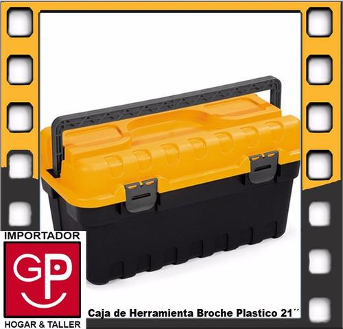 caja de herramienta 21´´ broche plastico strongo sp03