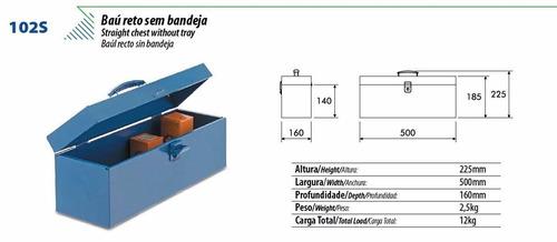 caja de herramientas de chapa 50x16x14cm cmb brasil 102s
