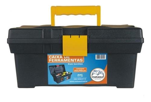 caja de herramientas  resistente con bandeja - 40x20x19 cm.