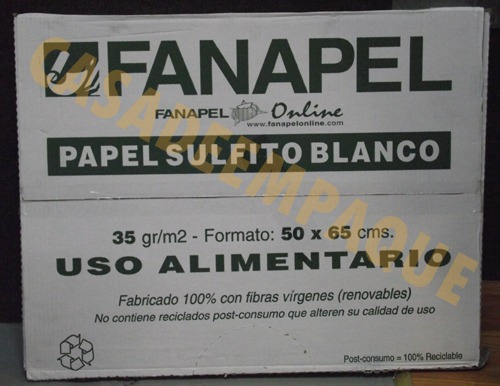 caja de papel sulfito cortado medidas 50 x 65 cms $670
