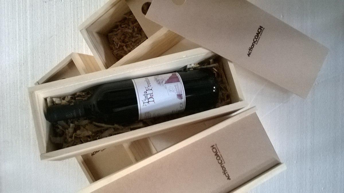 Caja De Vino En Madera Regalo Dia Del Padre 35000 en Mercado