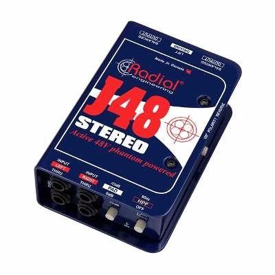 caja directa radial j48 activa stereo