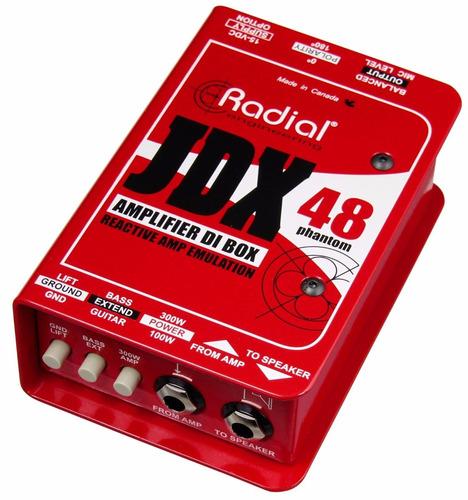 caja directa radial jdx48 reactor p/ amp. guitarra