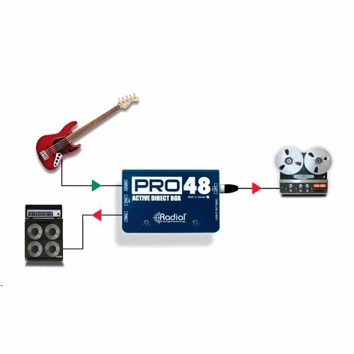 caja directa radial pro48 activa con phantom 48v
