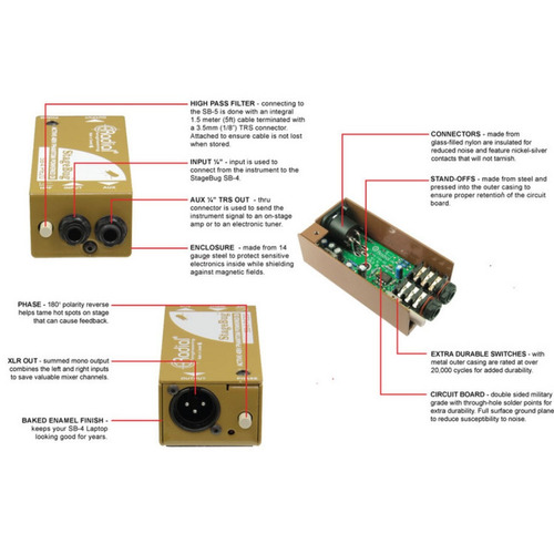caja directa radial stagebug sb4 activa
