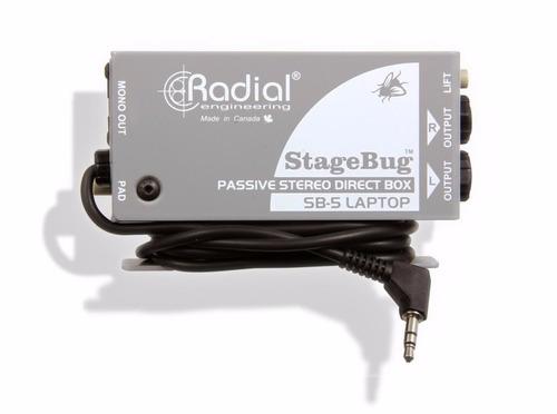 caja directa radial stagebug sb5 pasiva laptop