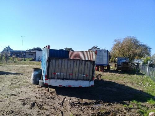 caja granelera y ganado