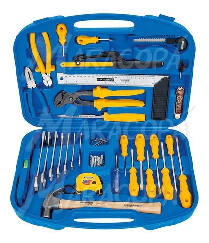 caja maletín con herramientas 30 piezas tramontina hogar