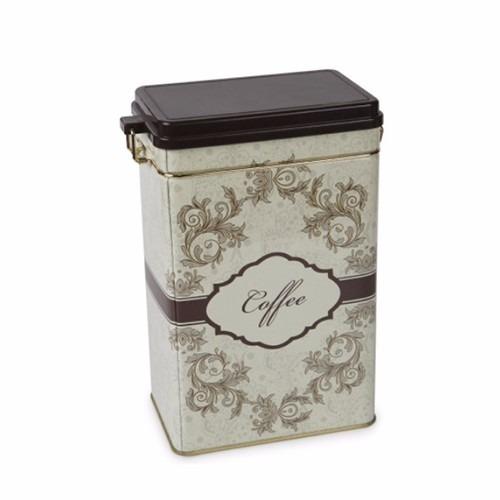caja multiuso metalica cafe 19 x 12 x 7 cm