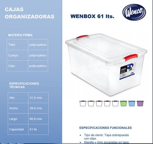 caja organizadora 61  litros wenbox multiofertas