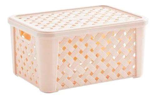 caja organizadora rattan 35x25x17 orden hogar hts