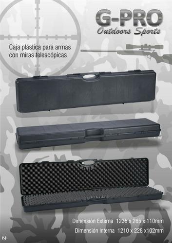 caja plástica para rifles