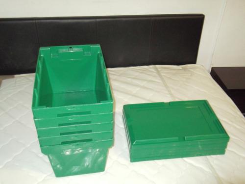 cajas cajones envase plastico con tapa logistica multiuso