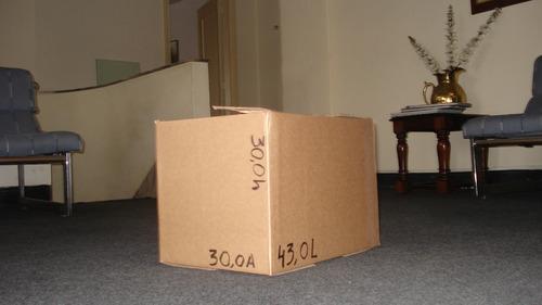 cajas de carton nuevas - pack de 20 unid  (43 x 30 x 30)