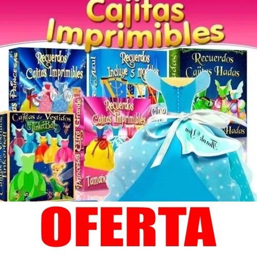 Cajitas Imprimibles, Recuerditos Princesas Disney Hadas - $ 150,00 ...