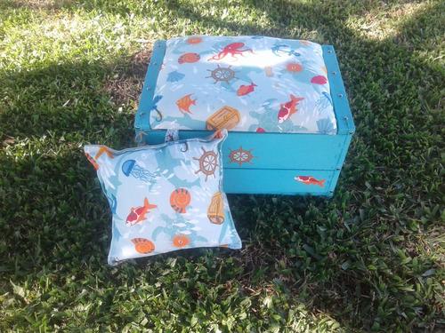 cajón baúl puff para juguetes. niña/niño/infantiles