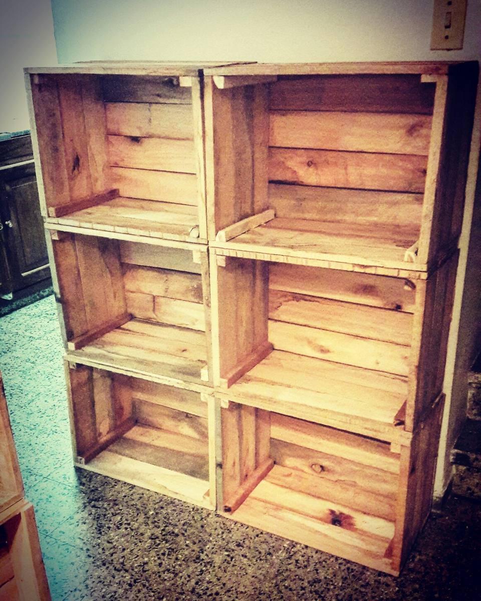 Cajones de madera feria nuevos frutas y verduras - Cajones de madera para frutas ...