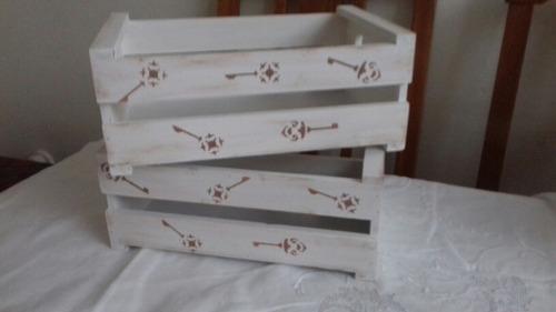 cajones de madera rusticos vintage-varios diseños