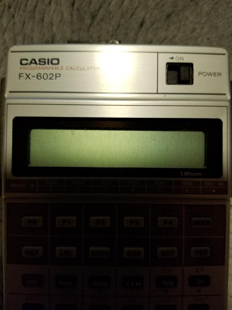 9e1ff818030a calculadora casio programable fx 602p vintage inmaculada. Cargando zoom.