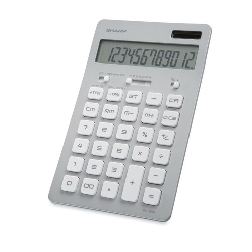 calculadora solar sharp el-364bsl 12 digitos plata