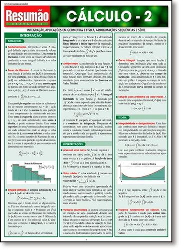cálculo 2 coleção resumão exatas de gerald harnet barros fis