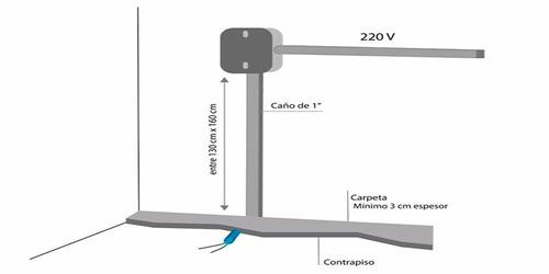 calefacción por piso radiante eléctrico