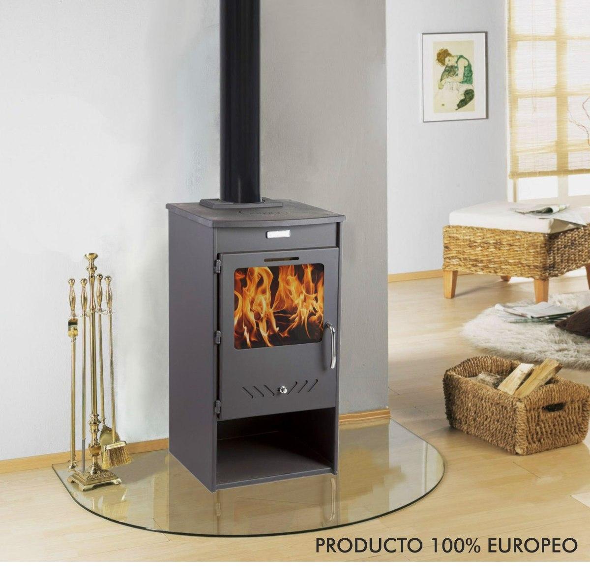 Calefactor estufa le a alto rendimiento pot 10kw u for Estufas de alto rendimiento a lena