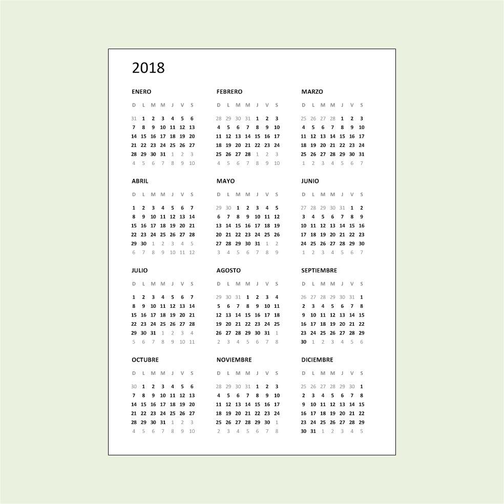 Pdf Calendario 2020.Calendarios A5 2018 2019 2020 2021 Pdf Para Imprimir