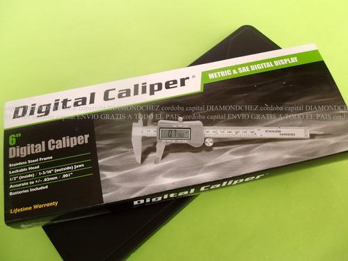 calibre digital 6. 0 a 150 encendido automático visor grande