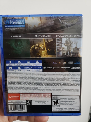 call of duty modern warfare ps4 fisico