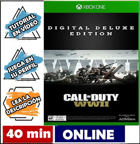 call of duty: ww2 deluxe xbox one online