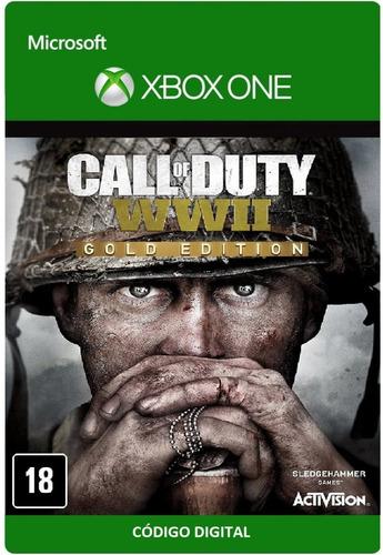 call of duty ww2 - gold edition (código) / xbox one