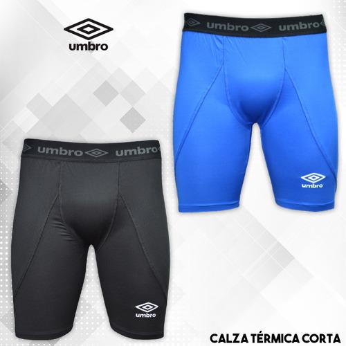 calza corta térmica umbro fútbol entrenamiento hombre