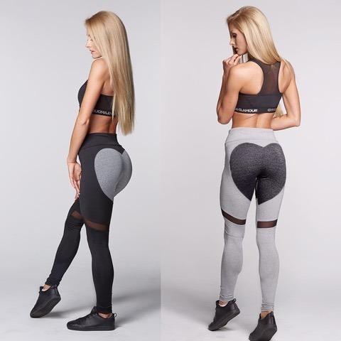 calza deportiva mujer combinada transparencias running sport