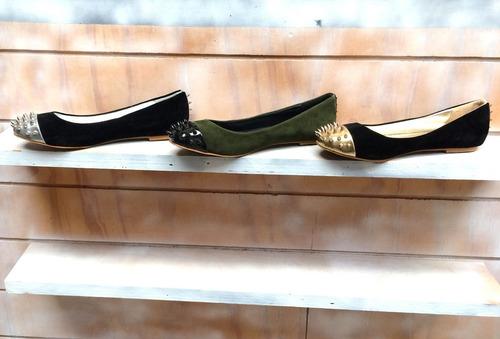 calzado balerinas chatitas con tachas // taura by borishka