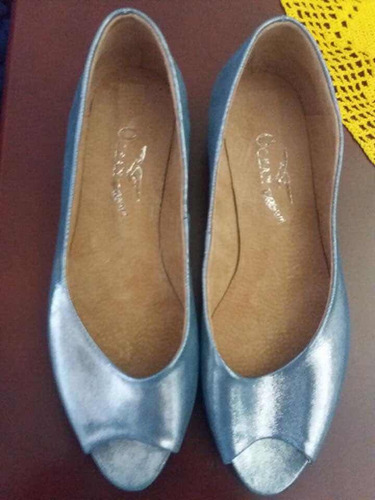 calzado de cuero ocean dream celeste