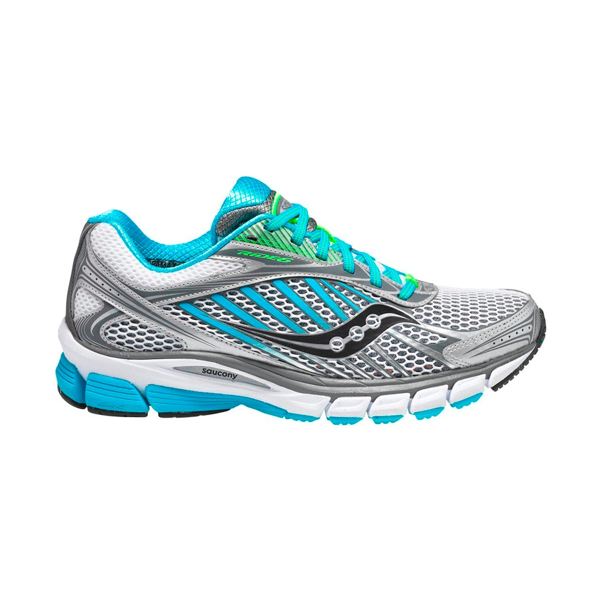 saucony ride 3 mujer plata