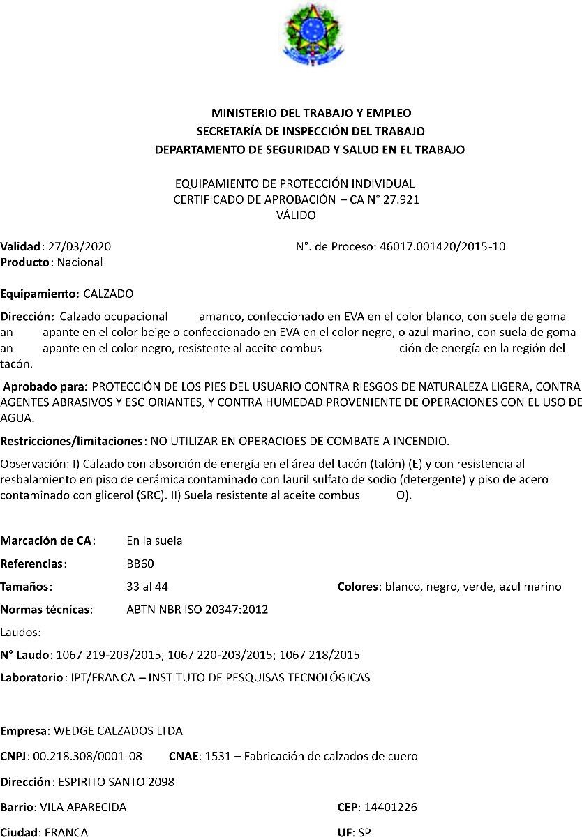 d942fae3c1e Calzado Profesional De Goma Eva Enfermería